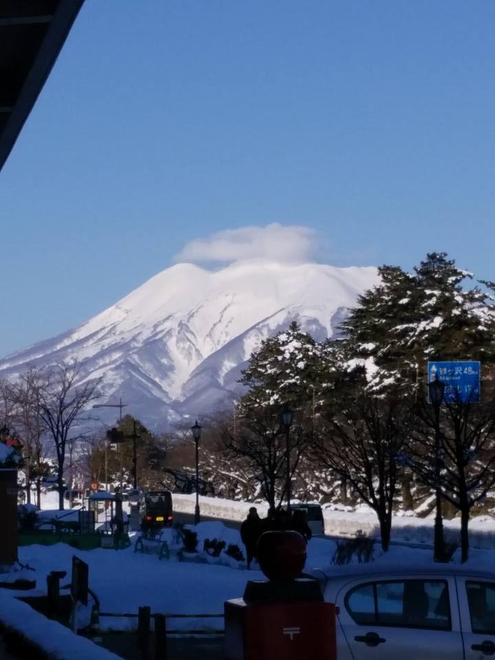 弘前ぐらし 冬の岩木山