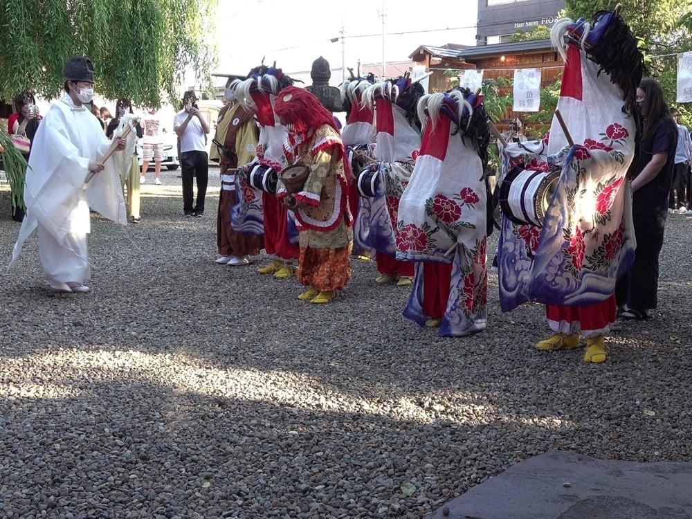 「松森町津軽獅子舞」の演舞及びそれを支える人たち
